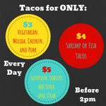 Image for the Tweet beginning: Tacos starting at only $3?!?!