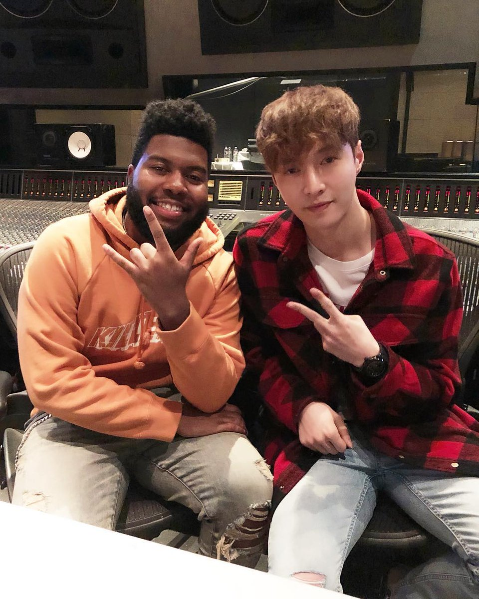 .@layzhang and @thegreatkhalid in the studio 👀👀👀