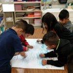 Image for the Tweet beginning: Kindergarten students working on 21st