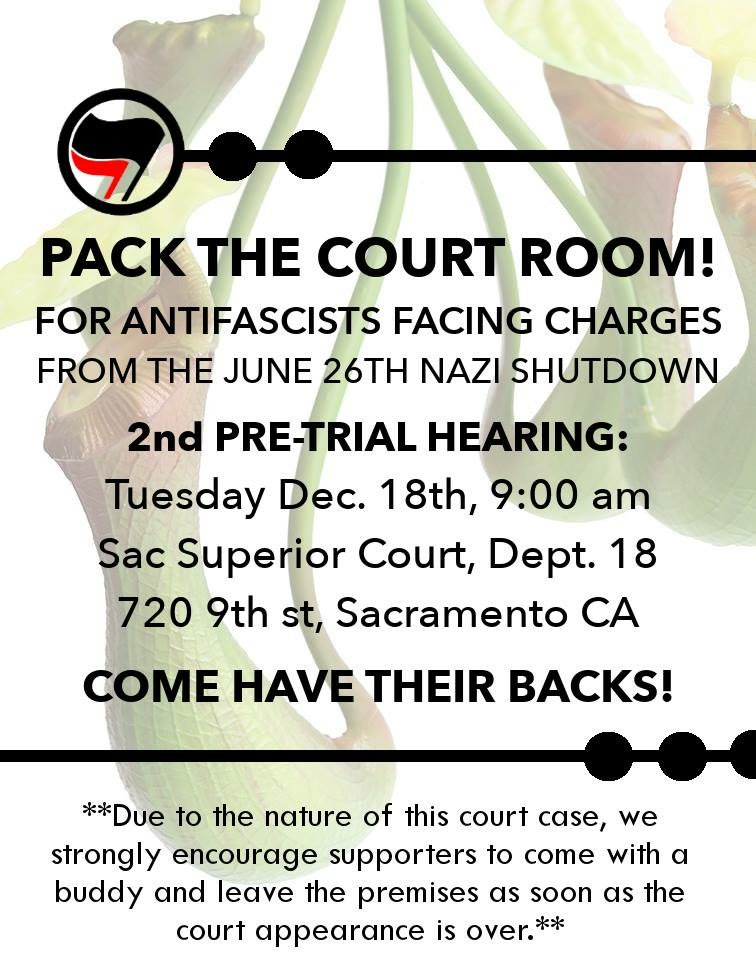 Antifascist Court Support: 2nd Pre-Trial Hearing @ Department 18