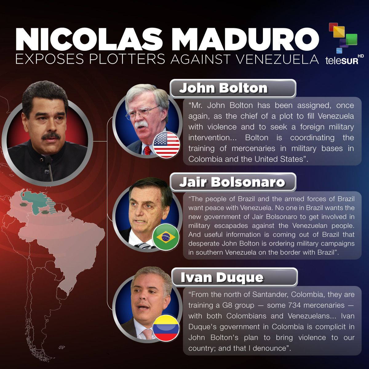 #NicolasMaduro denounces the right-wing governments that continuously undermine and attack #Venezuela's democracy.