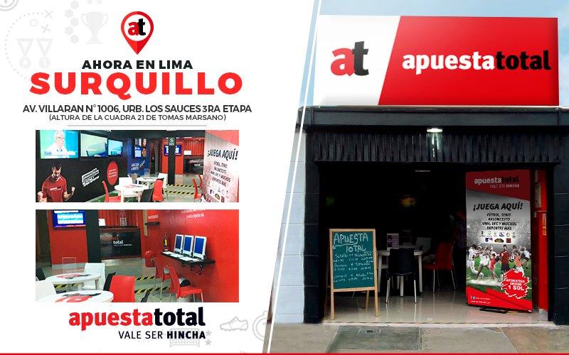 Todos los locales de Apuesta Total aquí > Conoce el único listado de tiendas de Lima, y además, como ubicarlas en provincia.