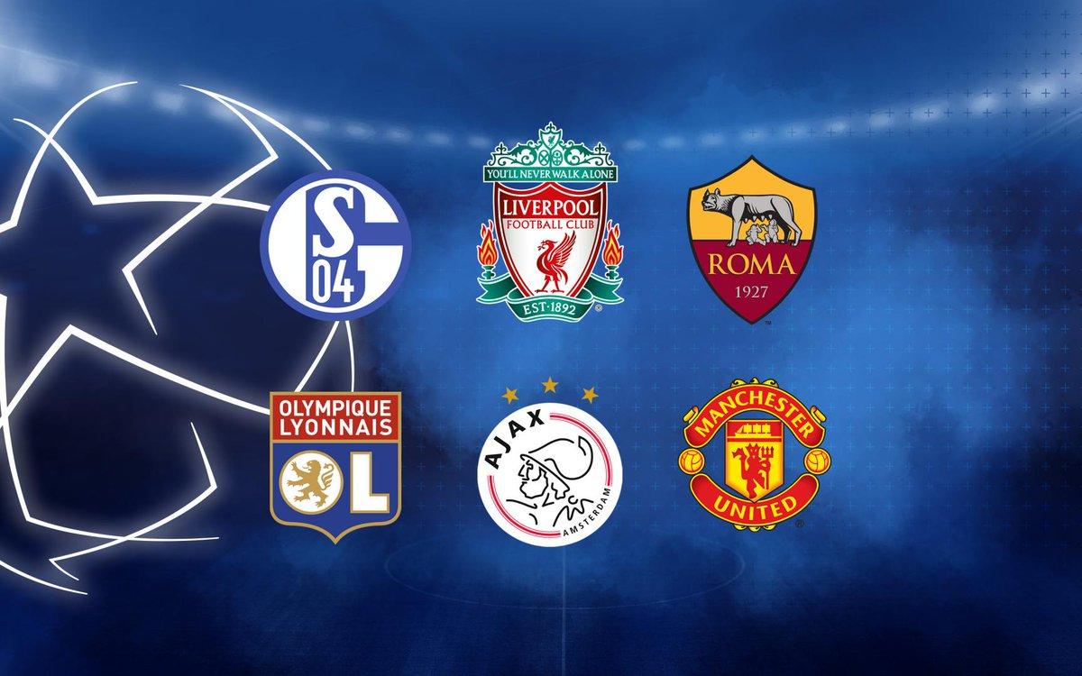 ❗ Confirmados los posibles rivales en el sorteo de octavos de final de la @LigadeCampeones 🇩🇪 Schalke 04 🇬🇧 Liverpool y Manchester United 🇮🇹 Roma 🇳🇱 Ajax 🇫🇷 Lyon ¿A qué equipo quieres en octavos? ¡Vota en nuestra encuesta! 👉 https://t.co/yUMfCfcH73  🔵🔴 #ForçaBarça