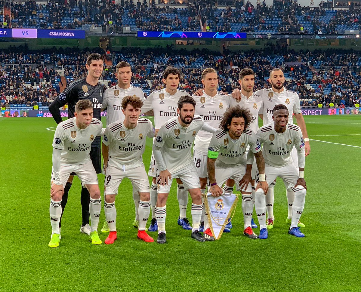 📸🙌 Your @realmadrid XI tonight! #RMUCL