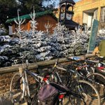 Image for the Tweet beginning: Festive cycle parking in Kingston