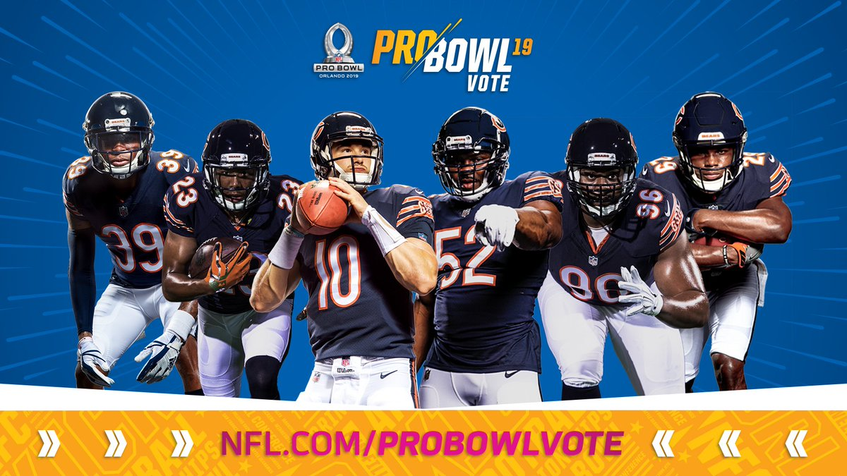 Help show some love to our friends at #DaBears with a retweet!   RT to #ProBowlVote: @EJackson_4 Kyle Fuller @Mtrubisky10 @52Mack_ @The_Dream99 @_Twenty8_