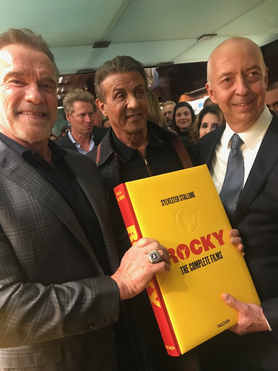 Congratulations @TheSlyStallone and @TASCHEN on an absolutely beautiful Rocky book. I'm so pumped to add it to my library.<br>http://pic.twitter.com/1fFlMuM2QU