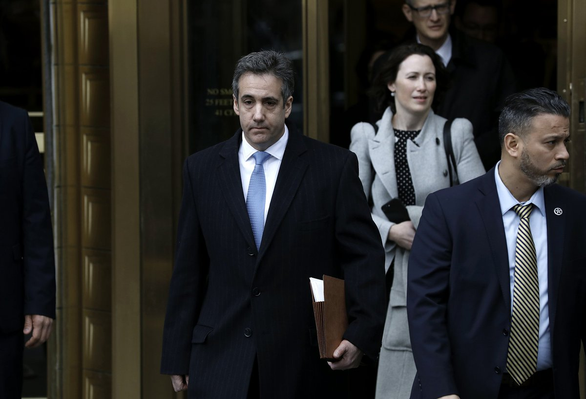 LATEST: Michael Cohen leaves the federal courthouse in Manhattan after being sentenced to three years in prison https://t.co/YYrXXAc0Vp