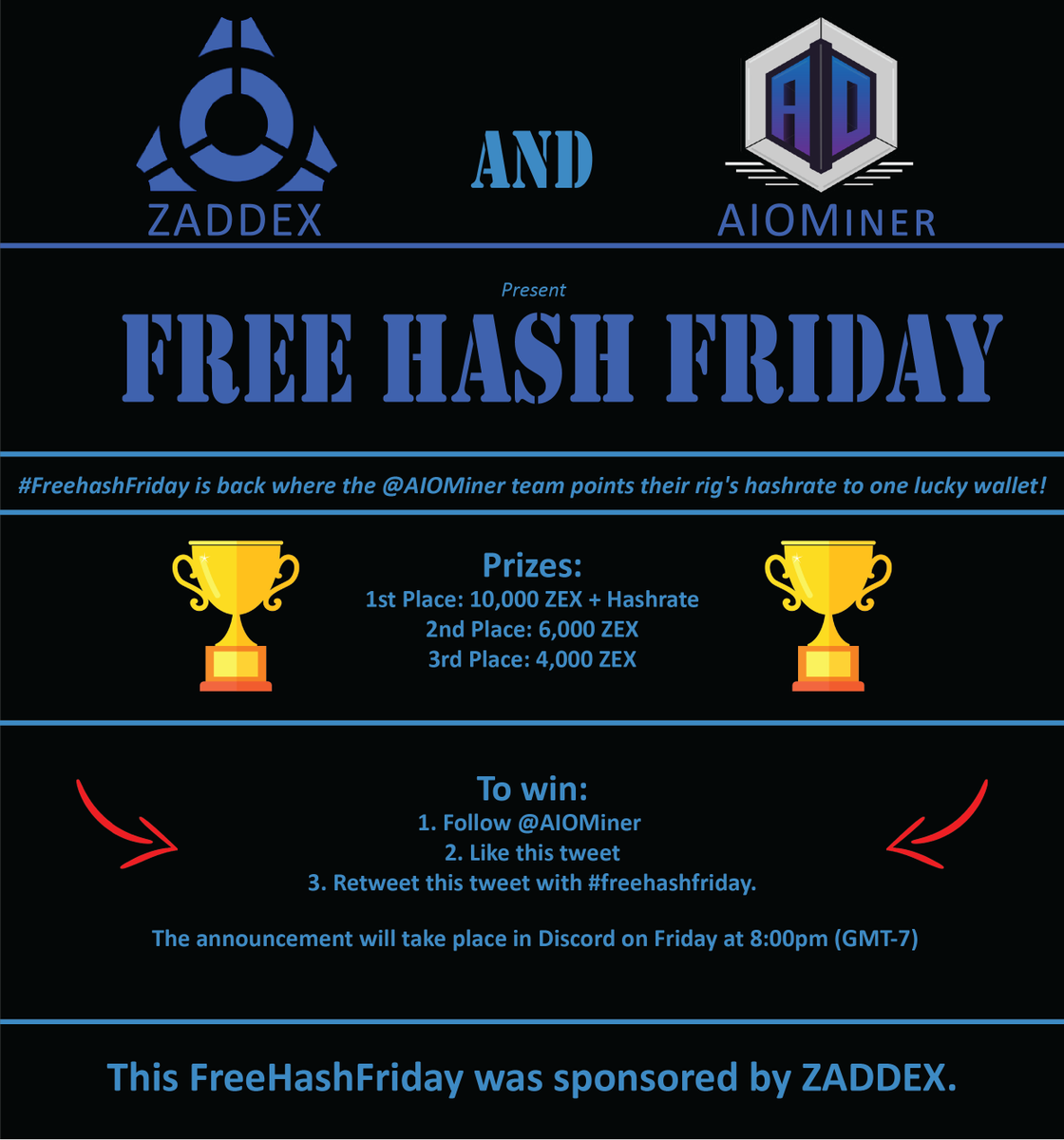 "Aio Miner aiominer on twitter: ""this week's #freehashfriday is"