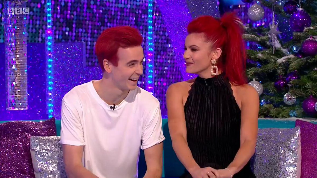 He did it! A man of his word. #Strictly red head @joe_sugg!