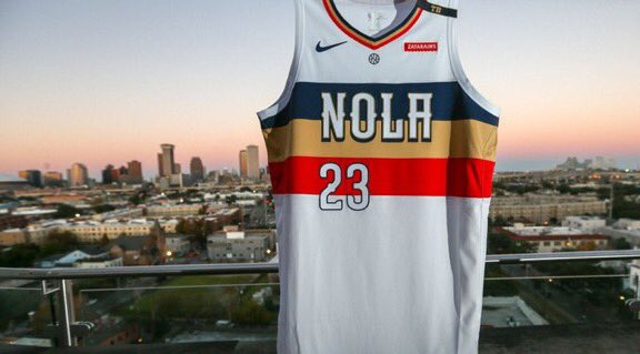 This should be the Pelicans uniform all the time.