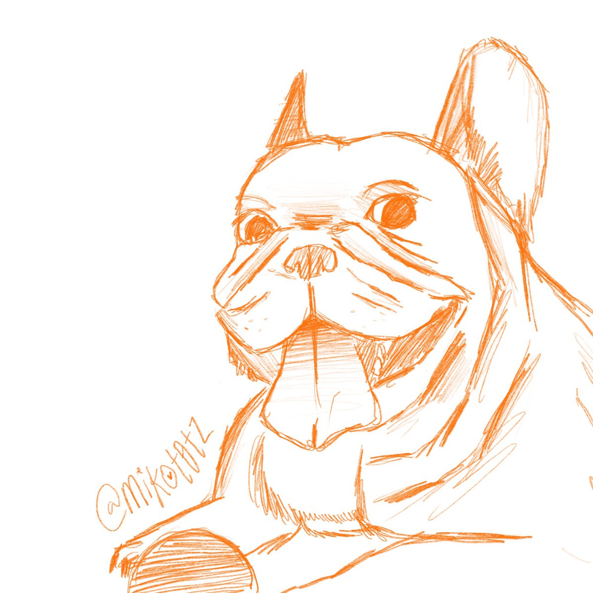 of course my first art post has to be my doggo, fynn #frenchbulldog #artistsoninstagram<br>http://pic.twitter.com/mmM4BGIrlK