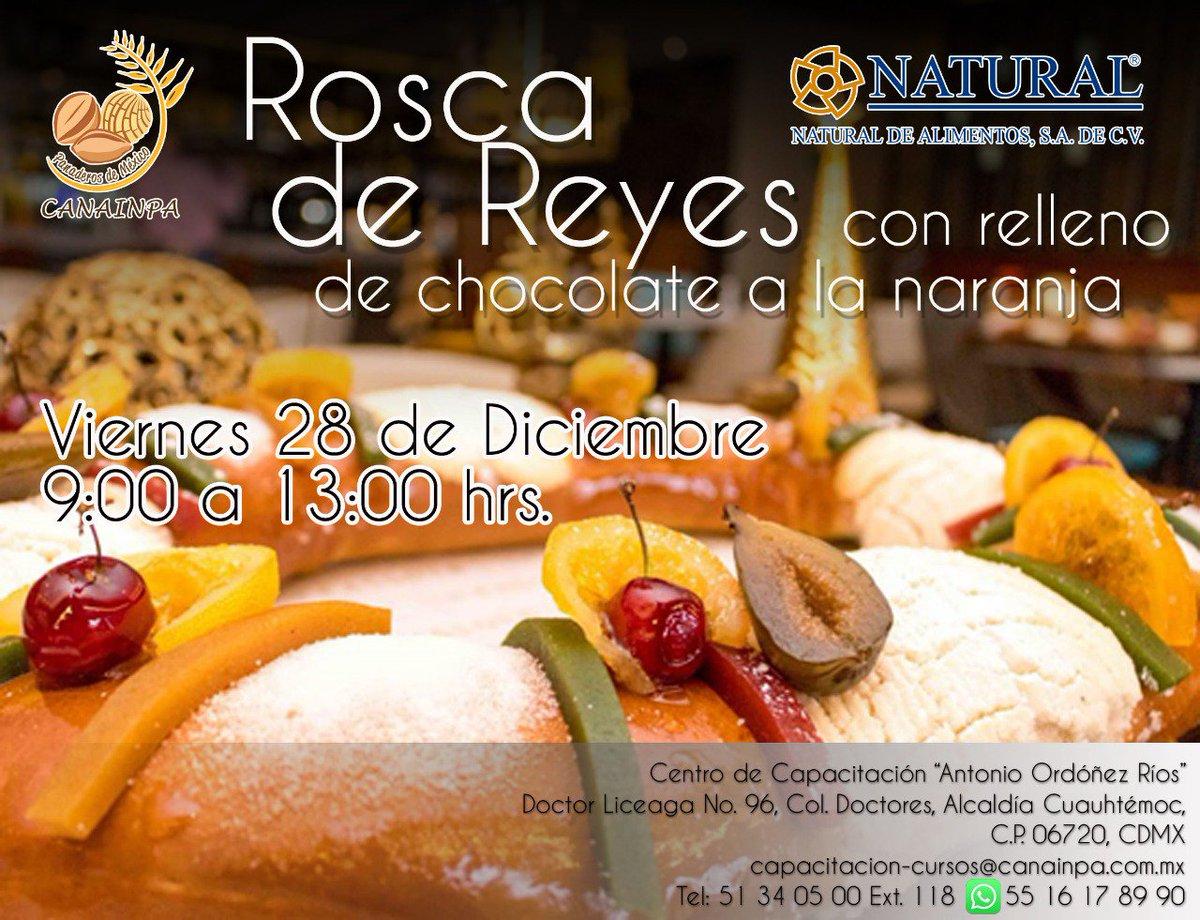 Buen día! Te invitamos al curso de Rosca de Reyes con relleno de chocolate a la naranja. #comesanocomepan #comamospan #cursospan #panaderia