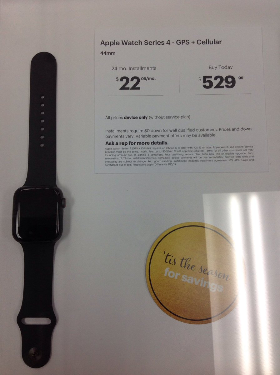 Come check out the new Apple Watch series 4 in stock at the Limonite location <br>http://pic.twitter.com/oNdIhINbdd