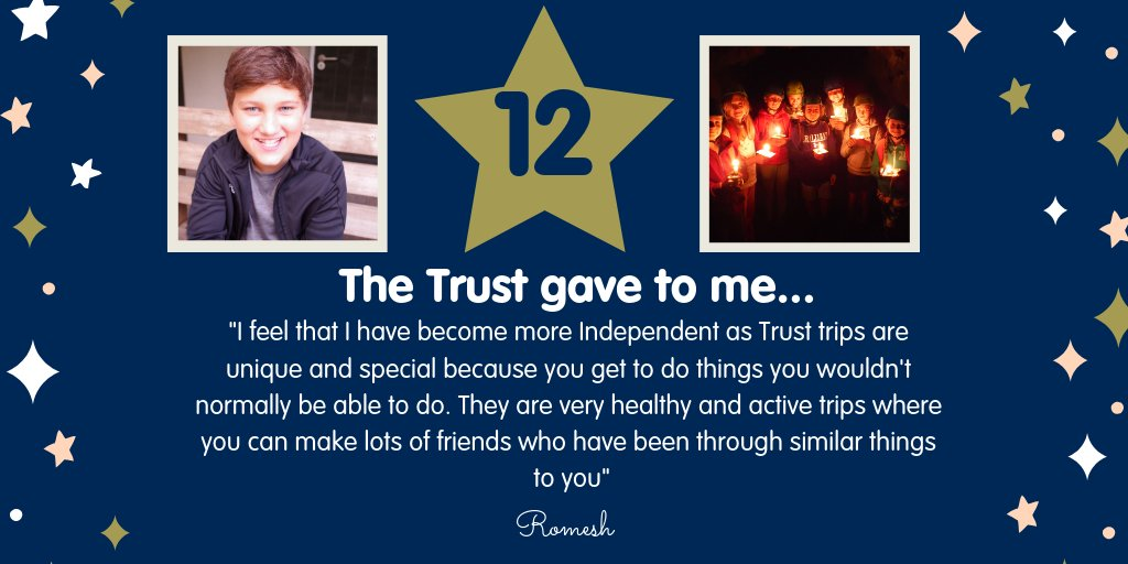 DAY 12 - Meet Romesh from Devon, he set sail on his first Trust trip when he was just eight after treatment for leukaemia. He has returned to enjoy a Trust trip every year since and is now a confident 10 year old 👇