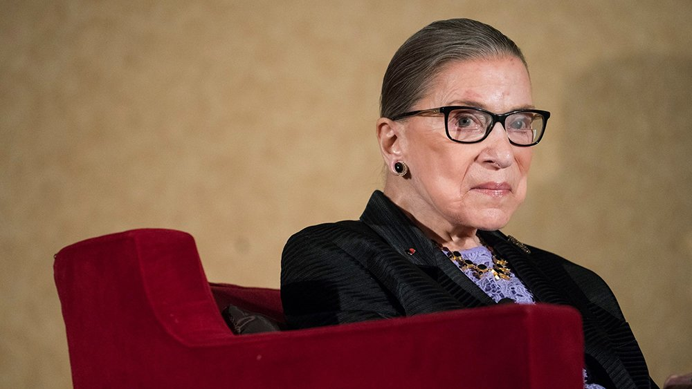 Ruth Bader Ginsburg: &quot;I'm feeling just fine, and I am meeting my personal trainer tomorrow&quot;  http:// bit.ly/2GgGJJ1  &nbsp;   <br>http://pic.twitter.com/a0WyH7eSMr