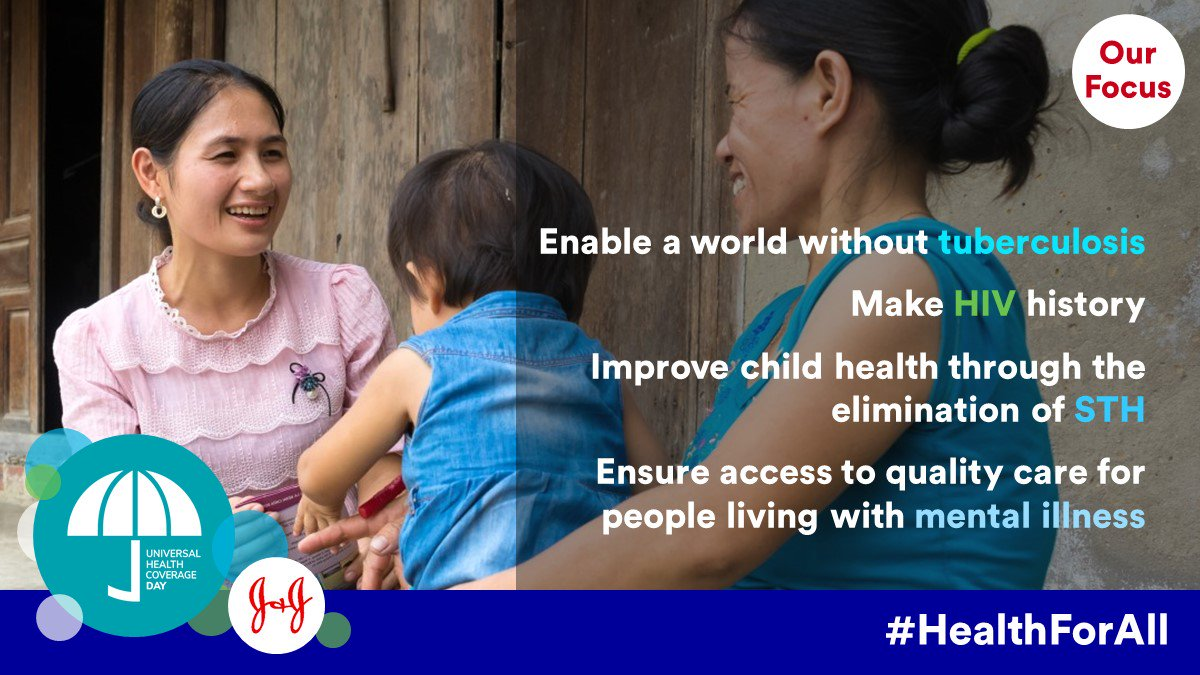 #JNJ envisions a world unburdened by disease. #HealthForAll will help us #MakeHIVHistory, #EndTB, #BeatNTDs and improve #MentalHealth https://t.co/kNOruHFDR7 #UHCDay
