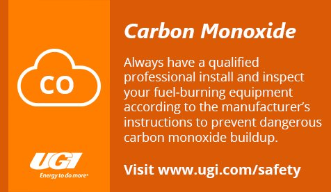 test Twitter Media - UGI urges customers to have a qualified heating system professional check furnaces, water heaters and other internal combustion appliances. For more #wintersafety tips, visit: https://t.co/YFoZlORxtZ https://t.co/4bMnpZhgRY