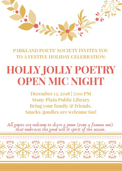 Parkland Poets On Twitter Poetry Fun Treats And Holiday