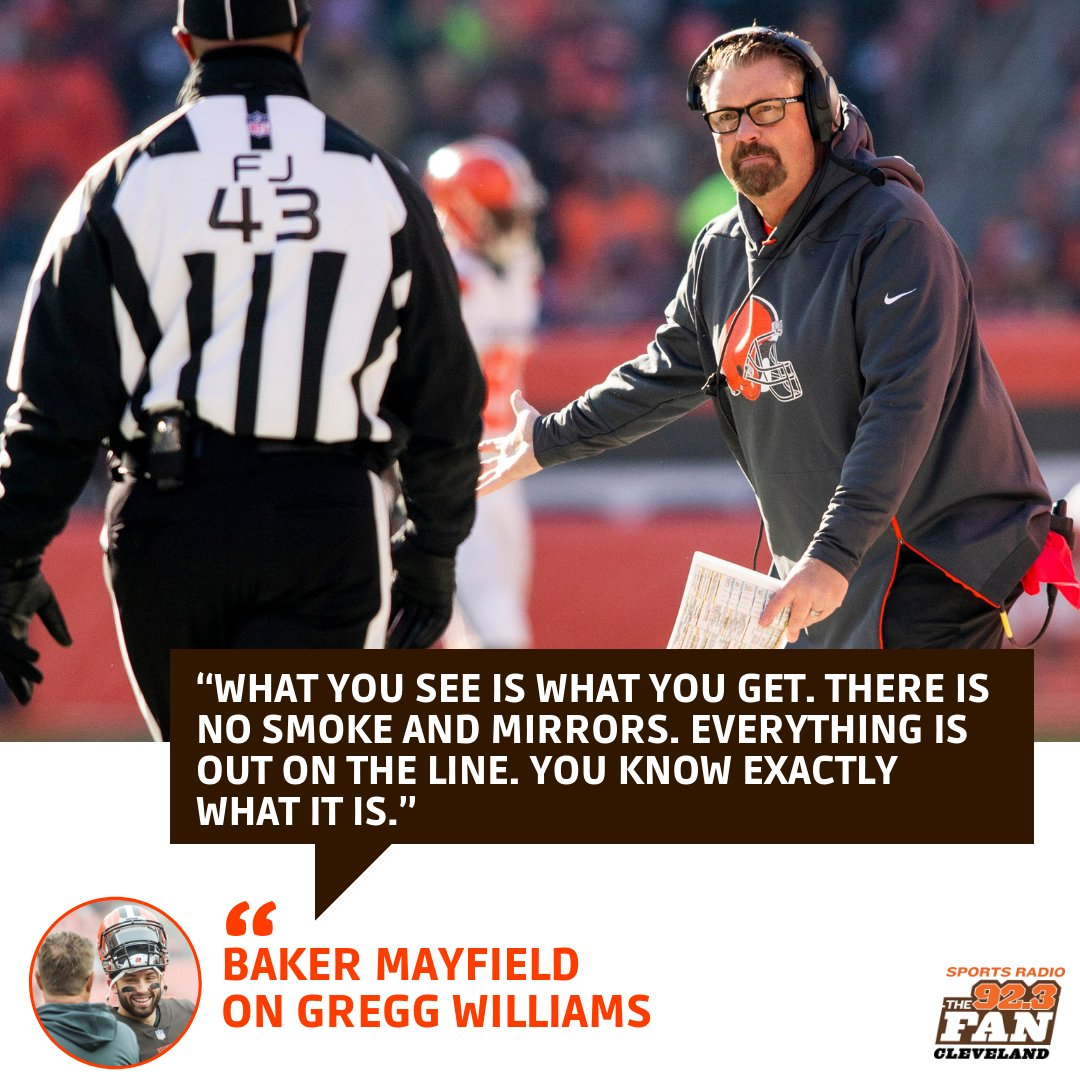 Baker Mayfield trusts his head coach  #Browns <br>http://pic.twitter.com/tDbYXjgKYw