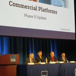 GSA and @OMBPress senior officials talk Commercial Platforms at today's Federal Marketplace Industry Day!
