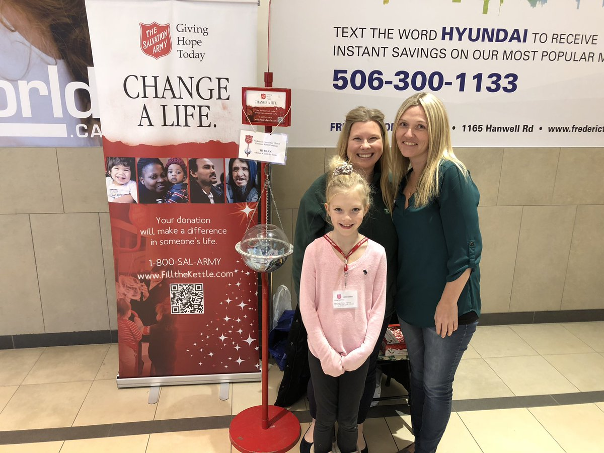 TD Fredericton Market has adopted the @salvationarmy Adopt-A-Kettle today at the @RegentMall_NB stop by and say hi  @KimNWood_TD @AngelaLauffer7 @darcy_kelly<br>http://pic.twitter.com/YjsfTTBDtC