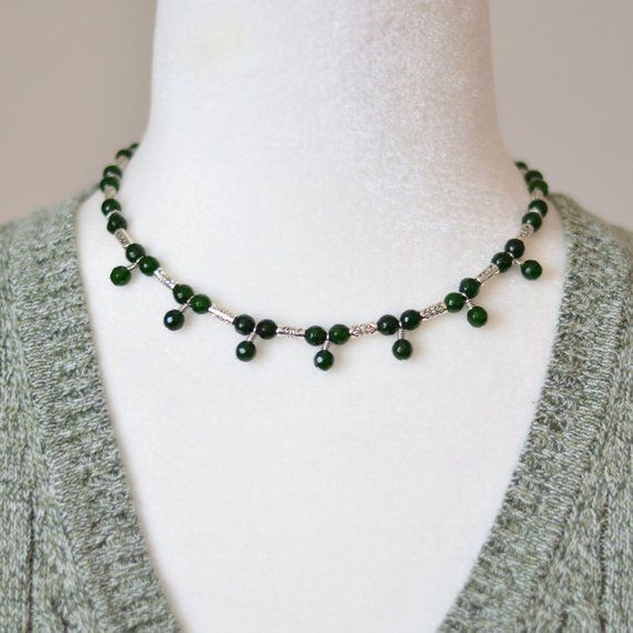 Green jade beaded #necklace ~  https:// buff.ly/2RVJ11u  &nbsp;   #giftsforher #Christmasgifts #fashionjewelry #womensfashion #jewelry #jewelrylovers #Wednesday #HandmadeHour #handmade #handmadechristmas #giftsformom #bohostyle #style #etsyfinds #etsyjewelry #craftshout #gemstonejewelry<br>http://pic.twitter.com/wIBYREkVI3