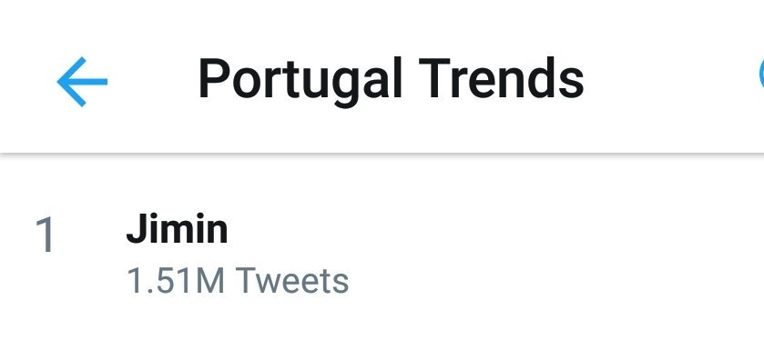 [ #JiminSocial]  &#39;Jimin&#39; is now trending following #2018MAMA ...  #1 Portugal #3 Greece #6 Saudi Arabia  Earlier, &#39;Jimins&#39; trended worldwide at #12.  #JIMIN #지민 @BTS_twt #BTS <br>http://pic.twitter.com/Vw7hWN9b5T