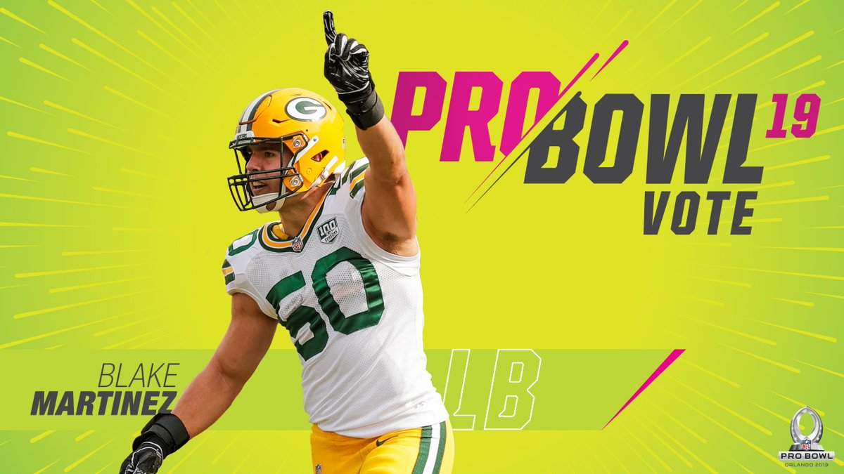 Blake Martinez ranks second in the @NFL with 118 tackles. #GoPackGo    #ProBowlVote + @Big__Blake50  #ProBowlVote + @Big__Blake50  #ProBowlVote + @Big__Blake50  #ProBowlVote + @Big__Blake50    EVERY RT = 2 VOTES <br>http://pic.twitter.com/QyiO6uaJZs