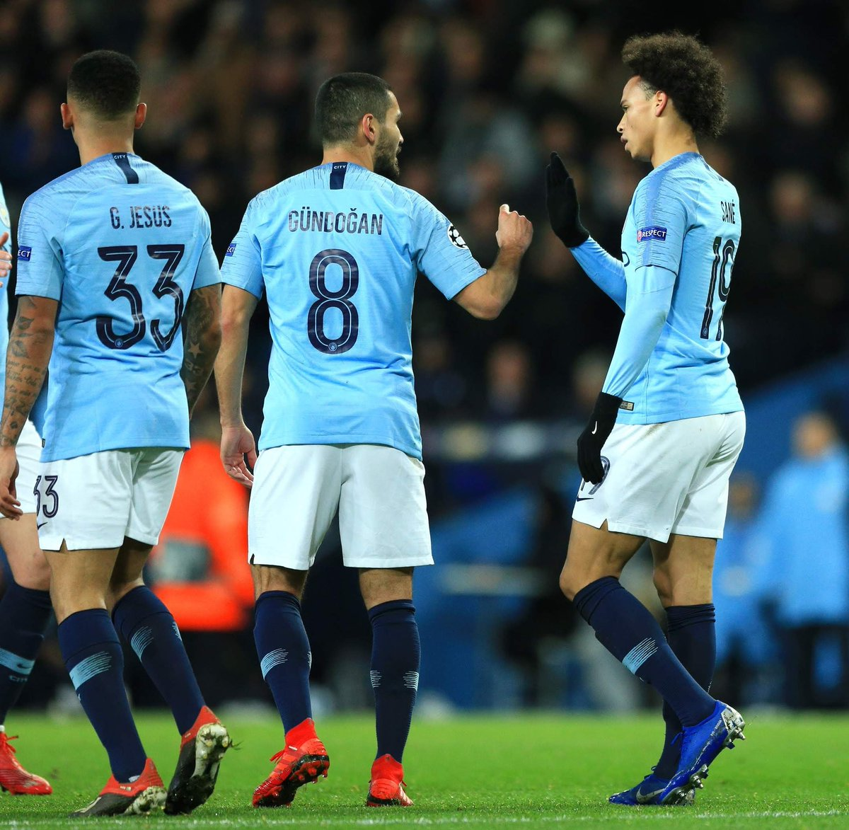 Gr8 to finish group F on top! 🎱⚽ Happy for @LeroySane19 _ finally the hard work pays off 😉 #inSané freekick goal! 🚀🔥#CMONCITY #UCL @ManCity