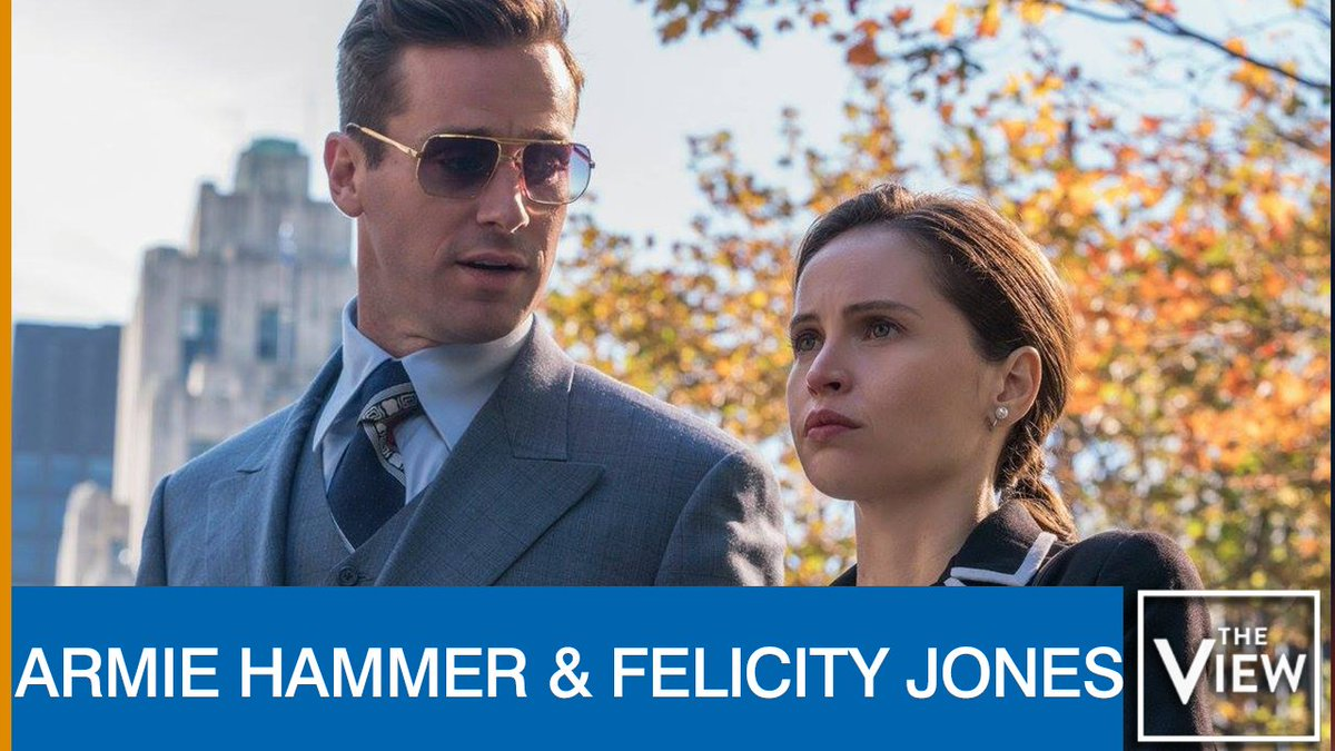 TOMORROW ON @THEVIEW: @armiehammer and #FelicityJones  join the table live to talk their new movie — a biographical drama about the one and only Ruth Bader Ginsburg! <br>http://pic.twitter.com/vLMbHfQD0k