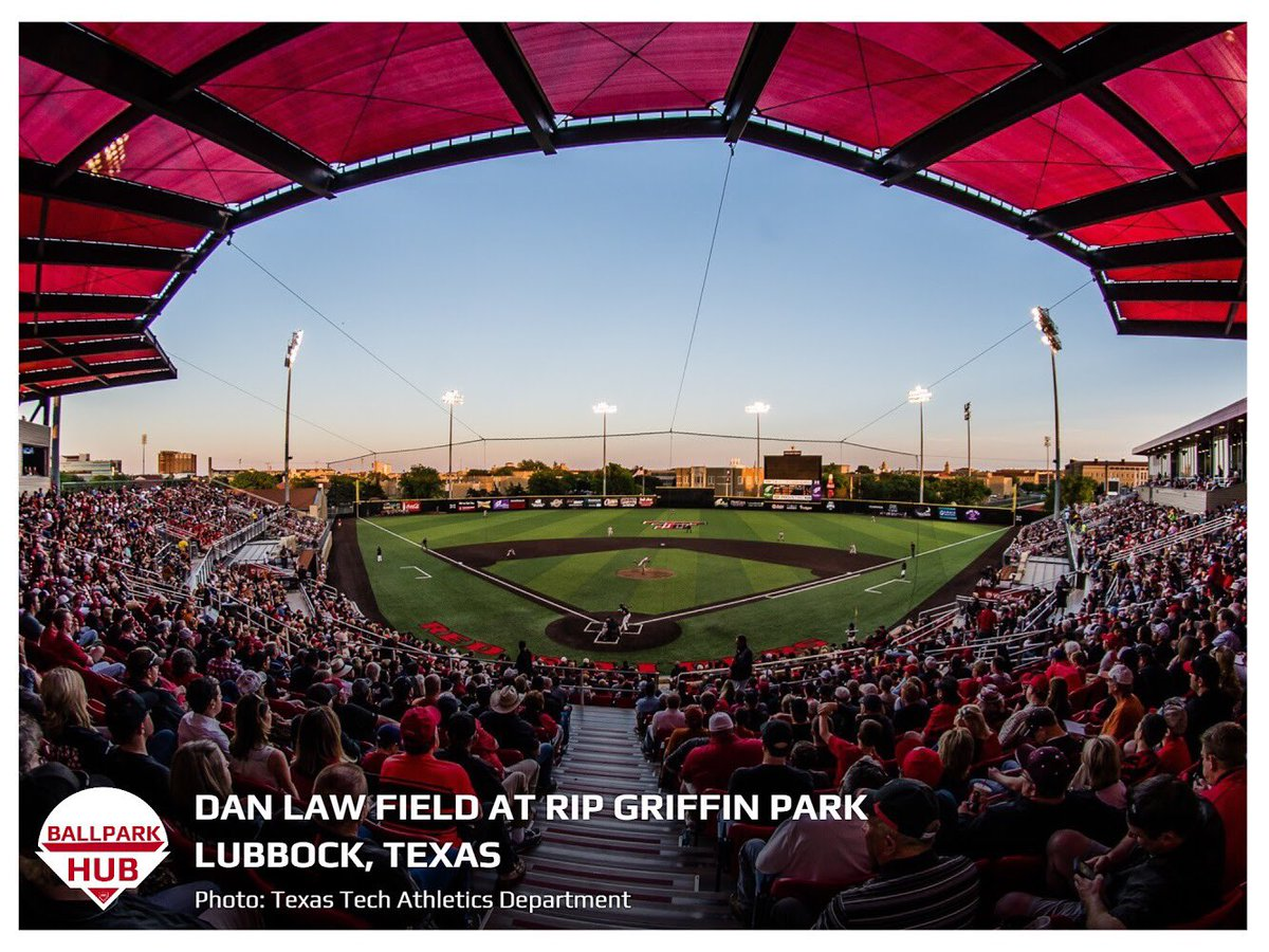 #ballparkoftheday  Dan Law Field at Rip Griffin Park • Lubbock, Texas • Opened: 1988 • Renovated Last: 2016 • Capacity: 4,432 • Playing Surface: FieldTurf • Home to Texas Tech University <br>http://pic.twitter.com/6XLifqOCOf