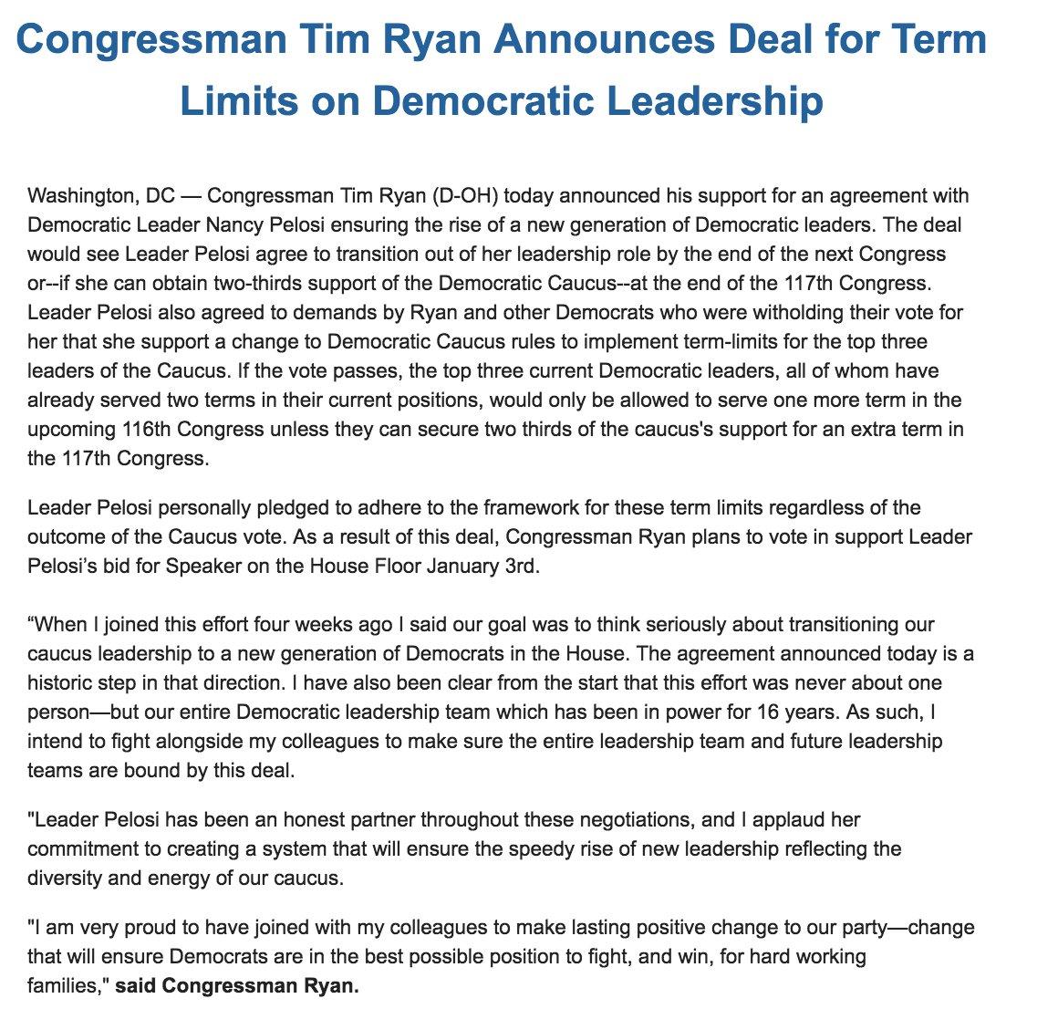 Viral News Update: Nancy Pelosi Flips Another Rebel As Tim Ryan Pledges To