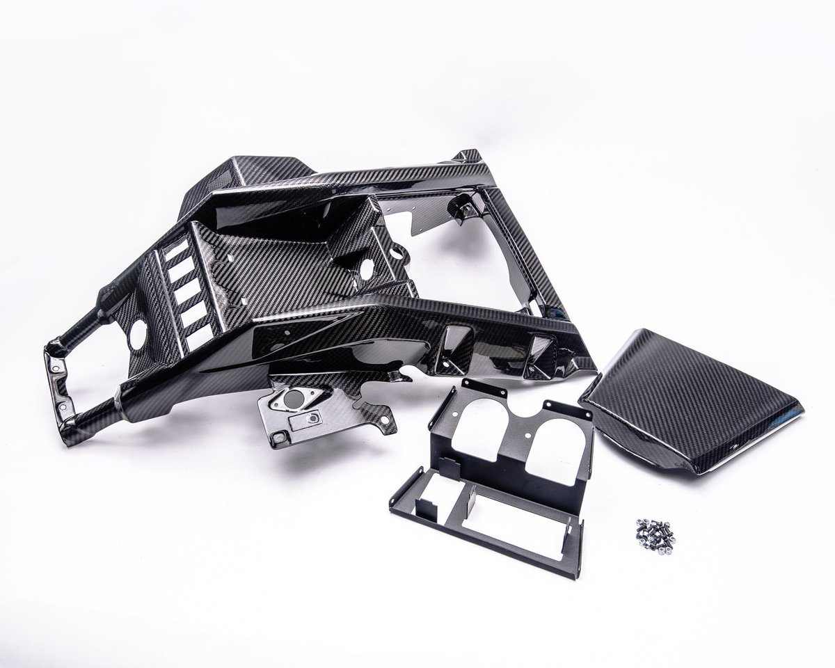 the center dash console is a full carbon fiber oem replacement including  the fuse box cover  #agencypower #aparmy #canam #canamx3 #canammaverick  #x3turbo