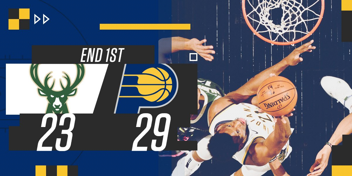 RT @Pacers: End of the 1st quarter at @TheFieldhouse: https://t.co/QmmGwnSt0B
