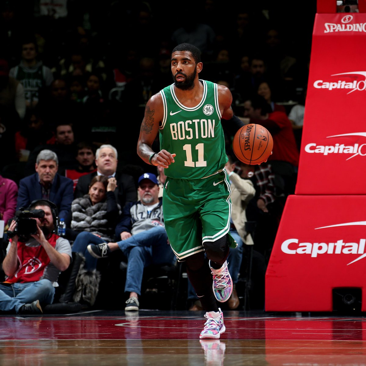 e36af4b8e63e kyrieirving debuts his neon blends nike kyrie 5 pe against the wizards  tonight