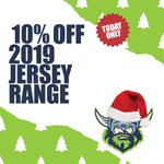 On the 12th day of Raiders Christmas, you can take 10% off our 2019 Jersey Range!  ➡️ https://t.co/nvruwcR7rD  #WeAreRaiders