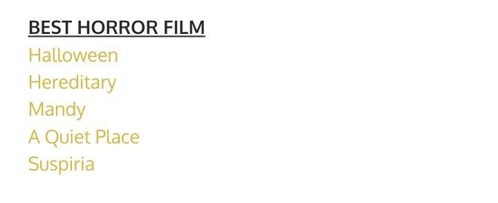 Suspiria is nominated for Best Horror Film and Best Score at Phoenix Critics Circle (PCC) #DakotaJohnson #Suspiria<br>http://pic.twitter.com/hCPqMUNBFw
