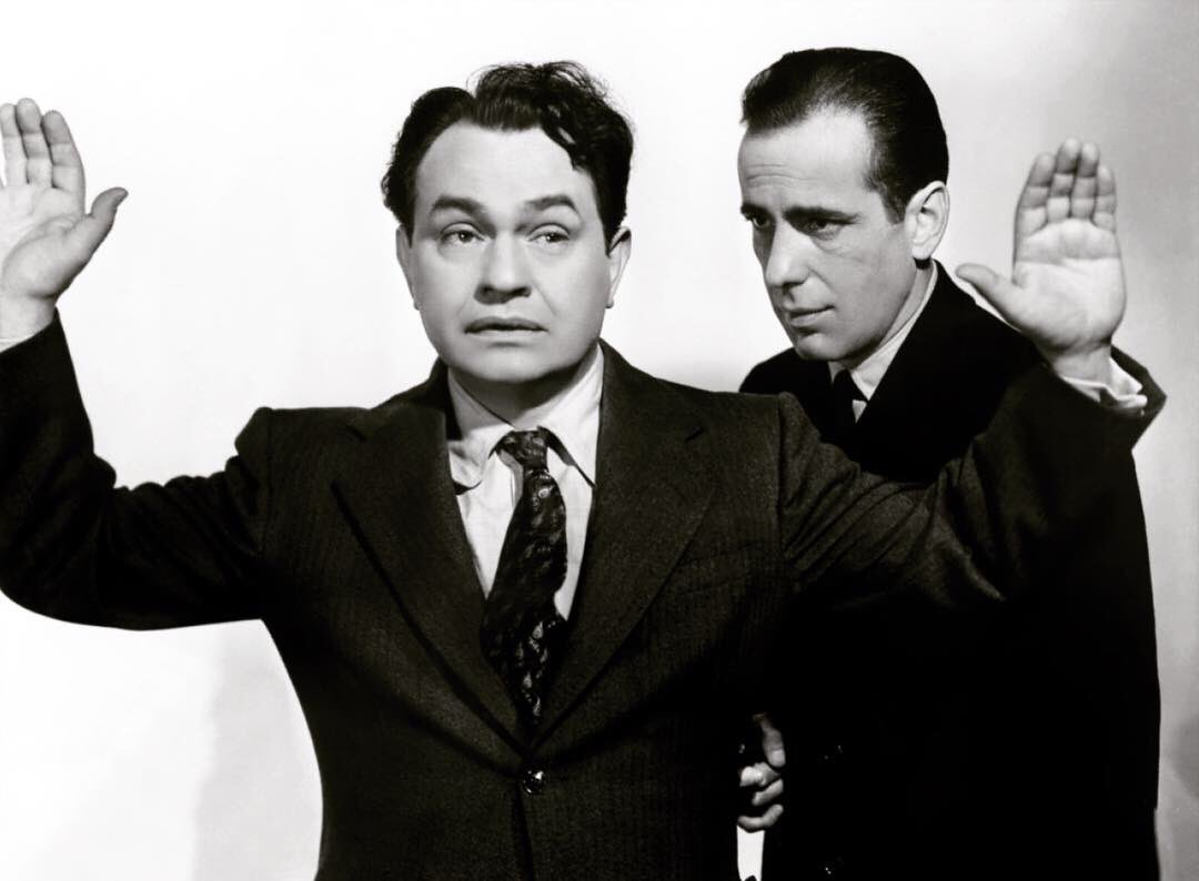 The great Edward G. Robinson, Humphrey Bogart's dear friend and frequent co-star, was born on this day in 1893. The two friends made five films together. Can you name all five?