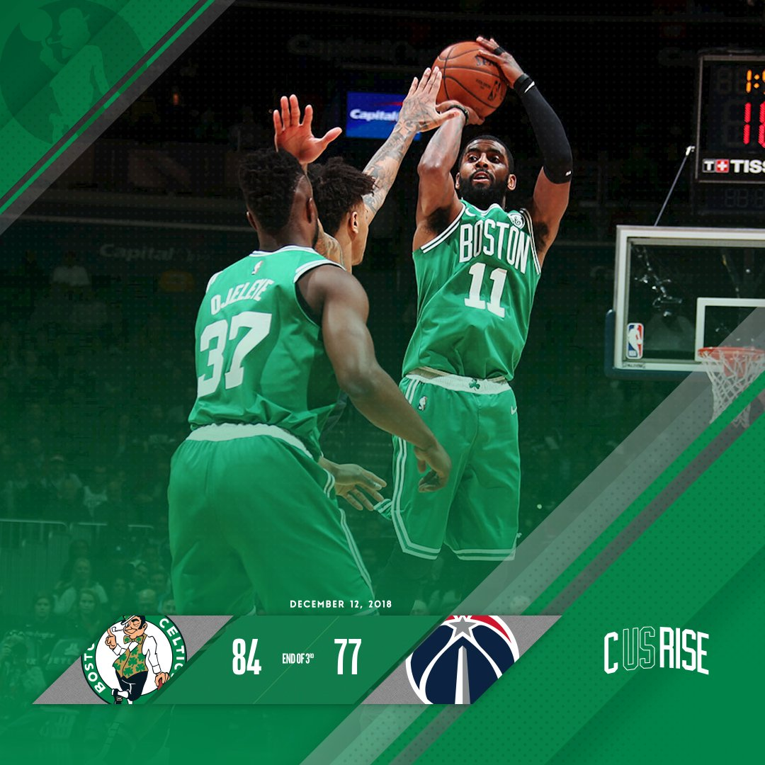Celts on top heading into the final frame. ☘️