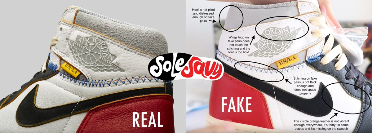 2d61f2e3a Use this quick comparison guide to help you easily spot fake pairs. This  applies to both colourways!pic.twitter.com/wTd0BTIf3O