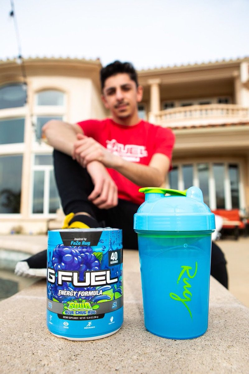 G Fuel On Twitter If You Haven T Already Heard Our Fazerug Inspired Sour Blue Chug Rug Gfuel Flavor Is Now Available And If You Re A Fan Of Blue Raspberry Tasting Things You Re Gonna Love