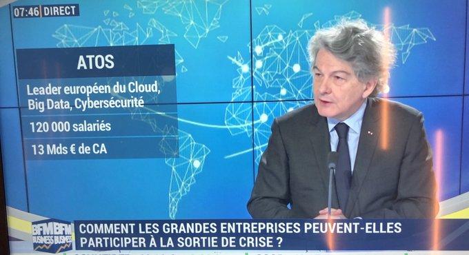 📺 Ce matin, notre PDG @ThierryBreton était interviewé sur @bfmbusiness par...