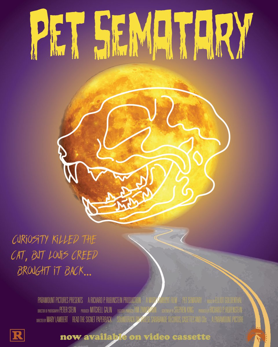 I made an alternative movie poster in my Intro to Graphic Design class for @StephenKing's 1989 Pet Sematary and I'm high key VERY proud of it  (I was heavily inspired by @Valancourt_B's incredible new covers for Cold Moon Over Babylon and The Elementals!)<br>http://pic.twitter.com/9Rp7PXHhrj
