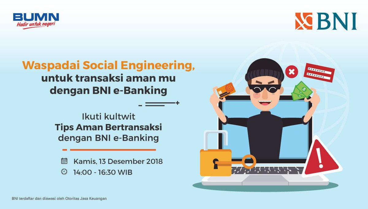 Pt Bank Negara Indonesia Persero Tbk En Twitter Karena Maraknya Kasus Penipuan Mengatasnamakan Bni Yg Menginformasikan Perubahan Tarif Sms Notifikasi Kami Menegaskan Bahwa Petugas Bni Tidak Pernah Menghubungi Nasabah Baik Telepon Atau