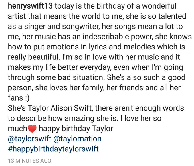HAPPY BIRTHDAY TAYLOR SWIFT  I LOVE YOU SO MUCH