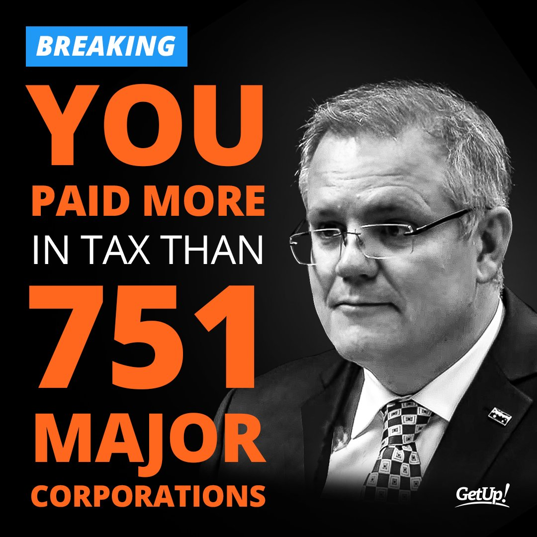 BREAKING DATA from the ATO:  751 major Australian corporations, with almost half a trillion dollars in revenue, paid not a single cent in tax.  Spread the word.