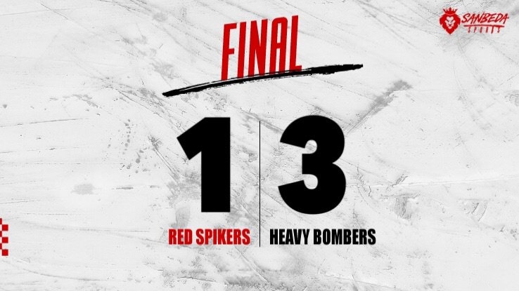 #NCAASeason94 Red Spikers bow down to Heavy Bombers. #AnimoSanBeda<br>http://pic.twitter.com/OxgcaJaWMG