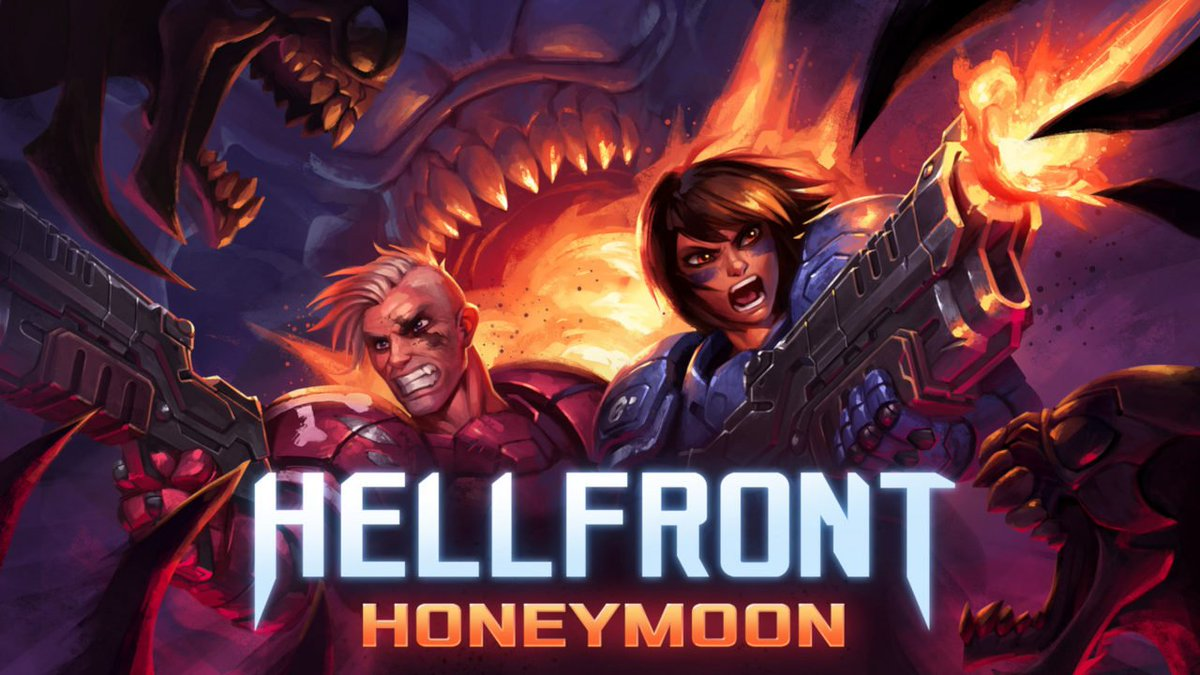 Gather round while Skygoblin details how their intense new twin-stick shooter, Hellfront: Honeymoon, practically exploded out of their fingers: https://t.co/HuFPw9BbX5 💥