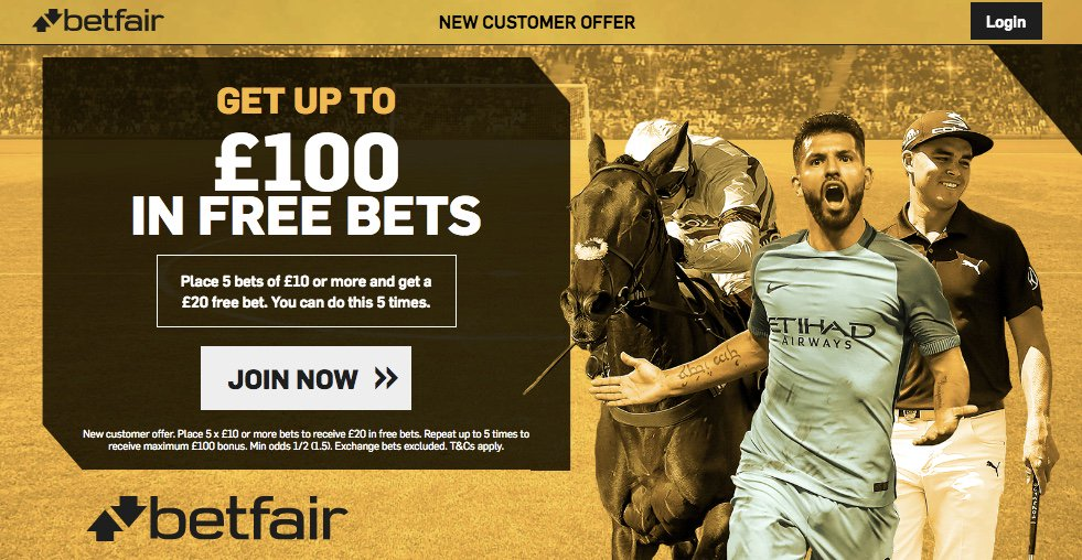 New Customer offer. Place 5 x €10 or more bets to receive €20 in free bets. Repeat up to 5 times to receive maximum €100 bonus. Min odds 1/2 (1.5). Exchange bets excluded. T&Cs apply  http://bit.ly/100BFSB  #PremierLeague #EFL #EFL #LaLiga #SerieA #Bundesliga #Ligue1